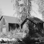 Pump house and power house at Lucas-Fabian homestead. Collection of the Jackson Hole Historical Society and Museum