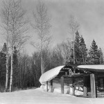 Geraldine's cabin at Lucas-Fabian homestead. Collection of the Jackson Hole Historical Society and Museum