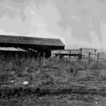 12. Barns and corrals at Fort Washakie for distributing government rations, Fort Washakie