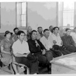 42. Shoshone Business Council Henry Tyler second from left front row (?), female council member second row