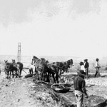 46. Digging irrigation ditches with horses