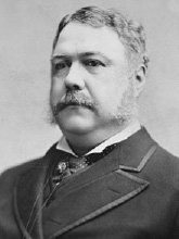 President Chester A. Arthur  Photograph by Charles Milton Bell  https://en.wikipedia.org/wiki/Chester_A._A rthur