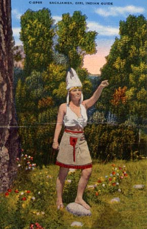 Fig 6: Sacajawea postcard, 1945