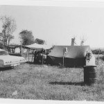 wall tent, tipis and car