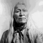 "117. ""Washakie Indian Chief"" informal portrait with loose white hair"